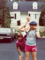 1977-05-Christian, baby Jeremy & Michael at our house on Weisman Rd, Wheaton, Md.