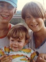 1978-09-Michael, baby Jeremy & Christian
