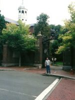 2002-09r-Michael at Harvard University in Cambridge, MA